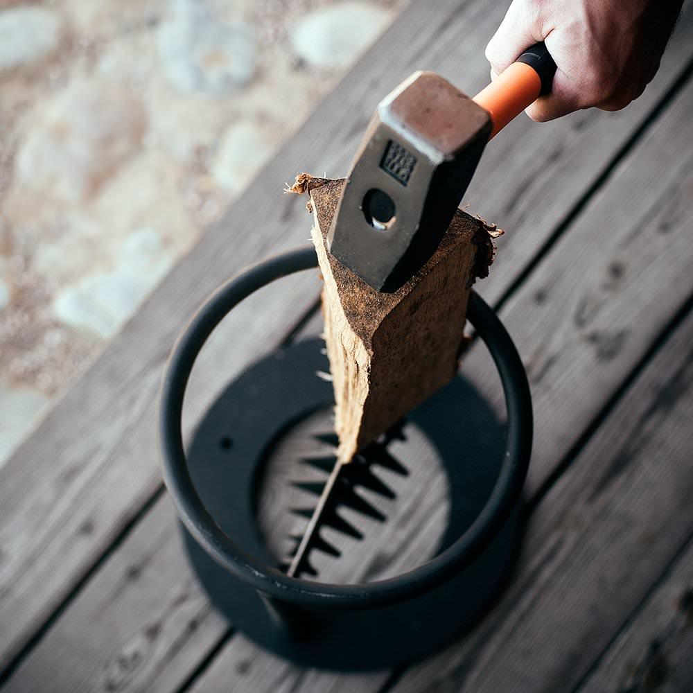 Приспособа для колки дров своими руками